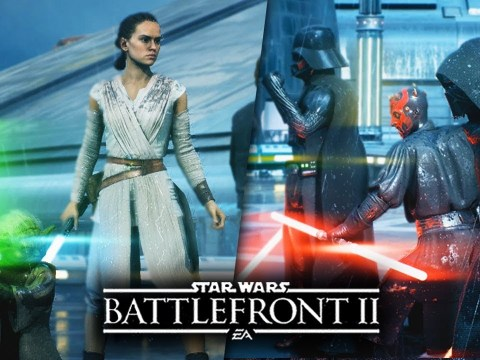 Star Wars Battlefront 2 - Heroes vs Villains Gameplay! ALL 14 Heroes! Kylo Ren, Darth Vader, Yoda! 6