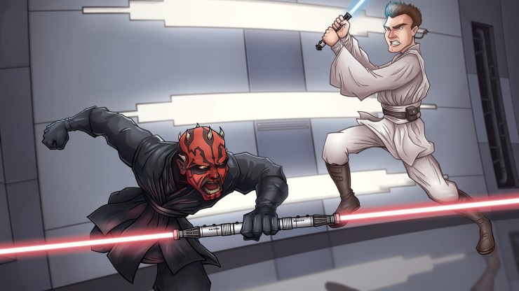Obi-Wan VS Darth Maul (Cartoon). 1
