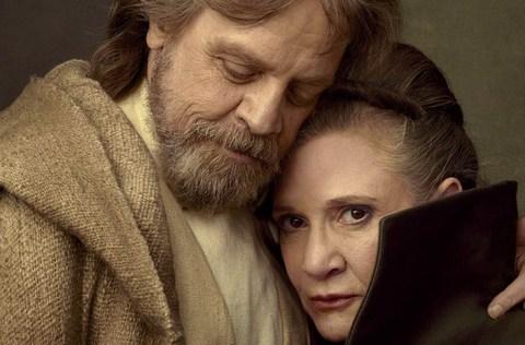 La pena de Luke Skywalker: No es capaz de ver la escena que compartió con Carrie Fisher