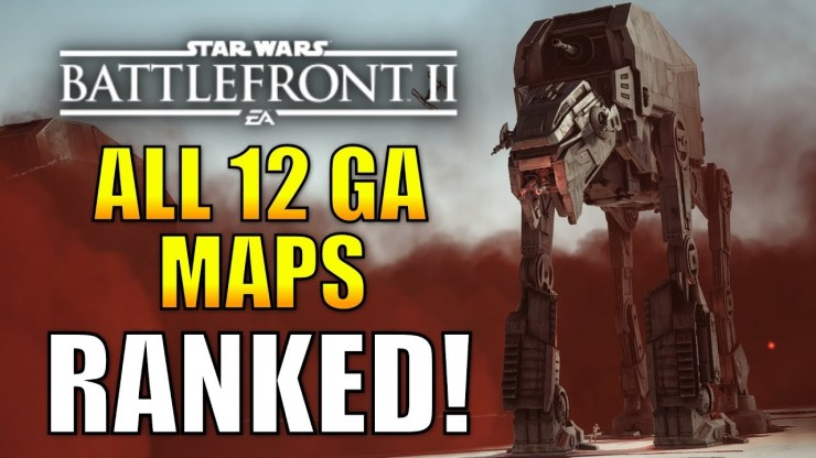 ALL 12 GALACTIC ASSAULT MAPS RANKED WORST TO BEST! 1