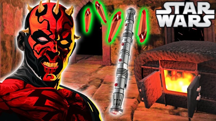 How Darth Maul BUILT His RARE Lightsaber (Animated)