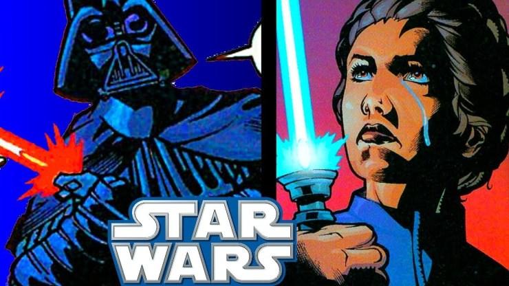 Leia ATTACKS Darth Vader With Kenobi's Lightsaber 1