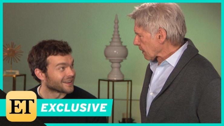 Watch Harrison Ford Surprise Young Han Solo Alden Ehrenreich