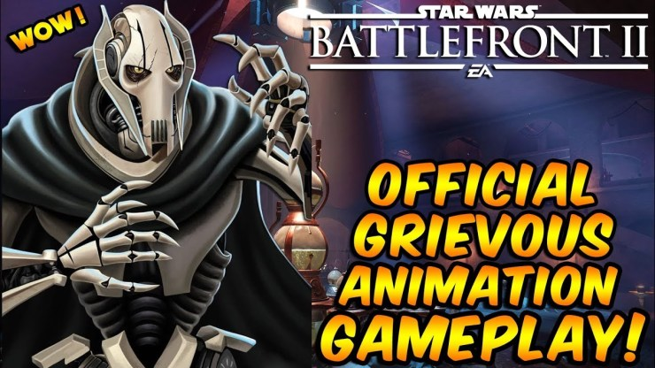 Star Wars Battlefront 2 - OFFICIAL General Grievous Animations (Gameplay) 1