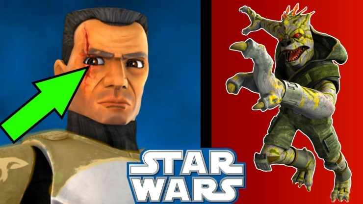 How Commander Cody Got His SCAR During the Clone Wars - Star Wars 1