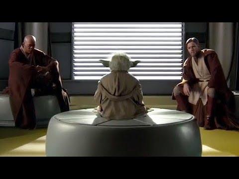 Yoda Mace Windu And Kenobi Deleted Scene Star Wars Revenge Of The Sith