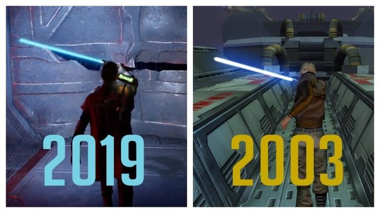 Star Wars Jedi Fallen Order E3 Demo vs Modded Jedi Academy 1