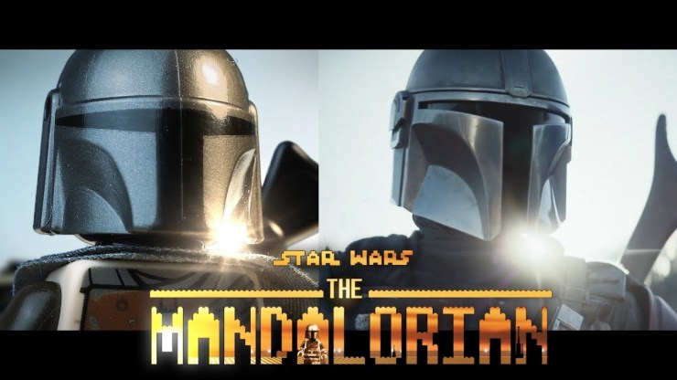 LEGO Star Wars The Mandalorian Official Trailer - Side by side 1