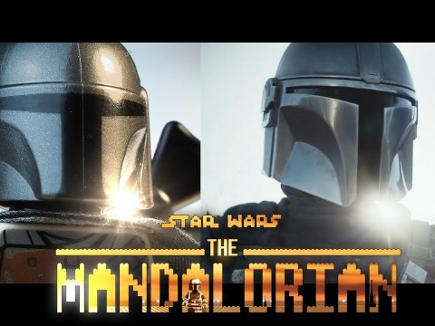 LEGO Star Wars The Mandalorian Official Trailer - Side by side 7