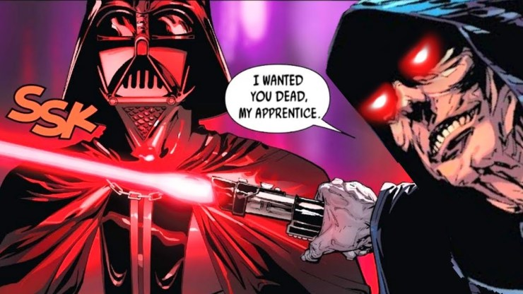 When Darth Sidious Put a Lightsaber to Vader's Throat (Canon) 1