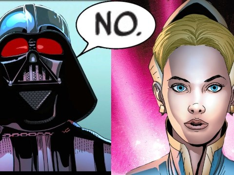 The Blonde Woman that Proposed to Darth Vader and he said No 5