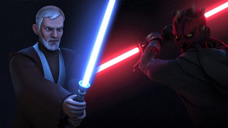 Star Wars Rebels with Thick Lightsabers | Obi-Wan vs Maul 1