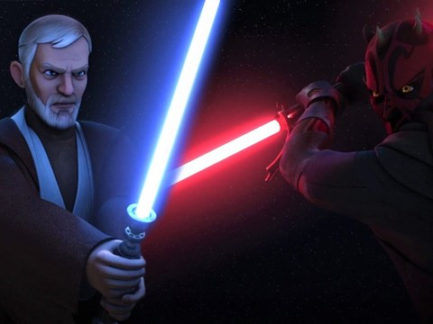 Star Wars Rebels with Thick Lightsabers | Obi-Wan vs Maul 2