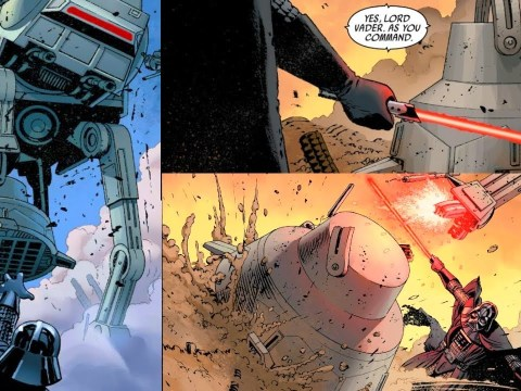 When Darth Vader Sliced the Legs off an AT-AT Walker (Canon) 13