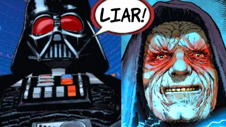 DARTH VADER CATCHES SIDIOUS LYING TO HIS FACE 1