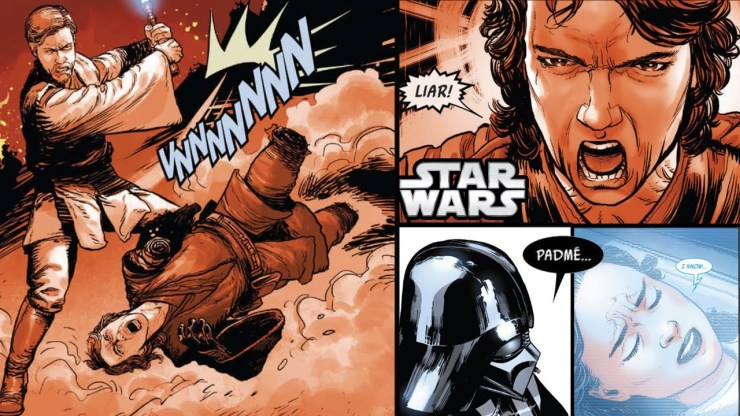 Vader Sees Anakin Lose to Obi-Wan and Padme Officially Die 1