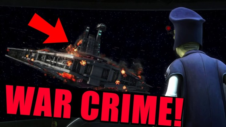 That time Anakin Skywalker committed a War Crime