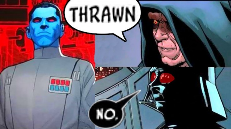 THRAWN IS BACK AND SIDIOUS SHOCKS VADER(CANON)
