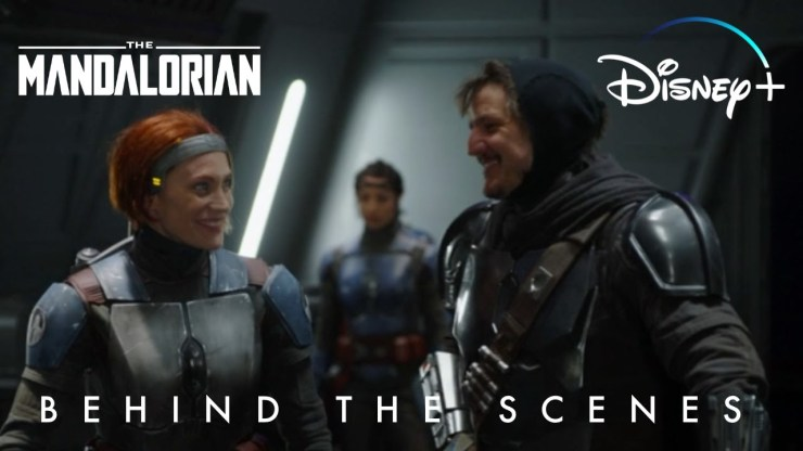 Bo-Katan Behind The Scenes Star Wars The Mandalorian