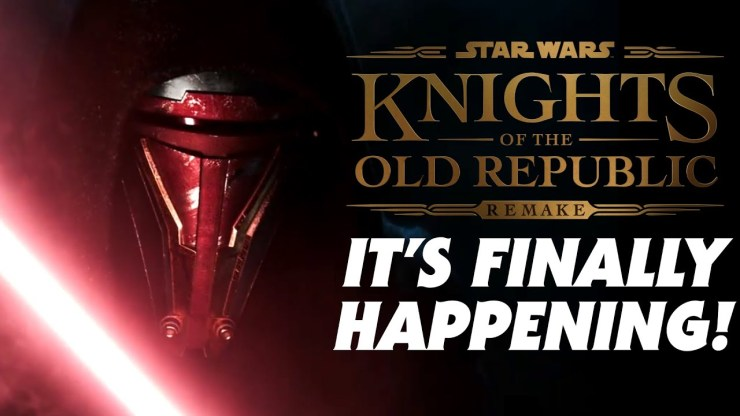 The Knights of the Old Republic Remake is HAPPENING!