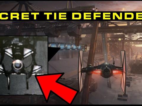 Did we find a Secret First Order TIE DEFENDER?