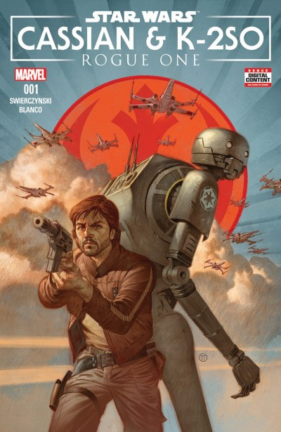 Rogue One cover Cassian K-2SO Marvel