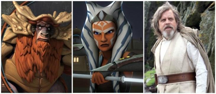 Jedi Grigi Bendu, Ahsoka, Luke