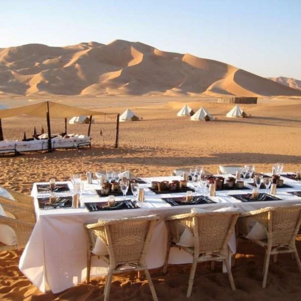 Dinner in desert