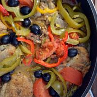 Udka kurczaka z papryką i ziołami prowansalskimi