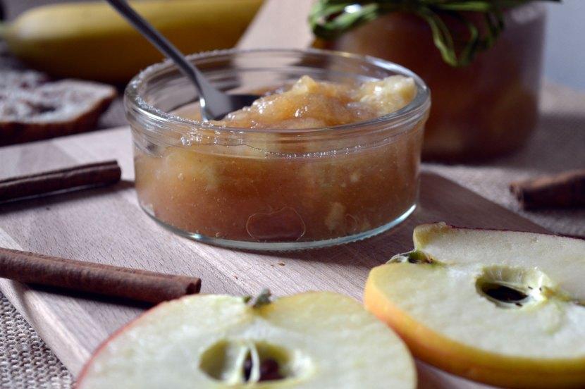dżem jabłkowo bananowy