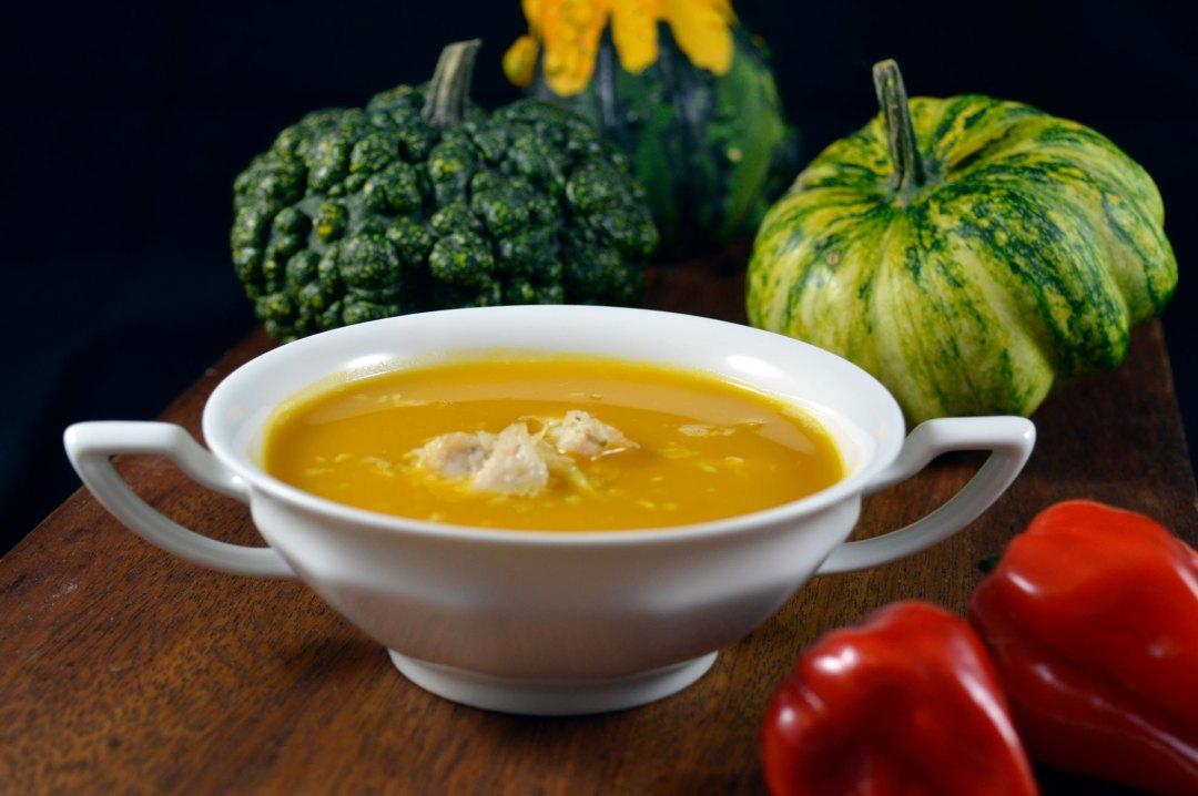 zupa dyniowa z mleczkiem kokosowym