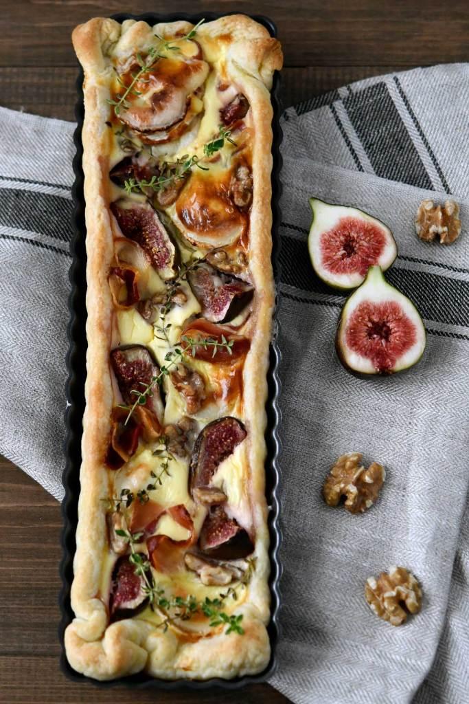 Tarta z figami i kozim serem