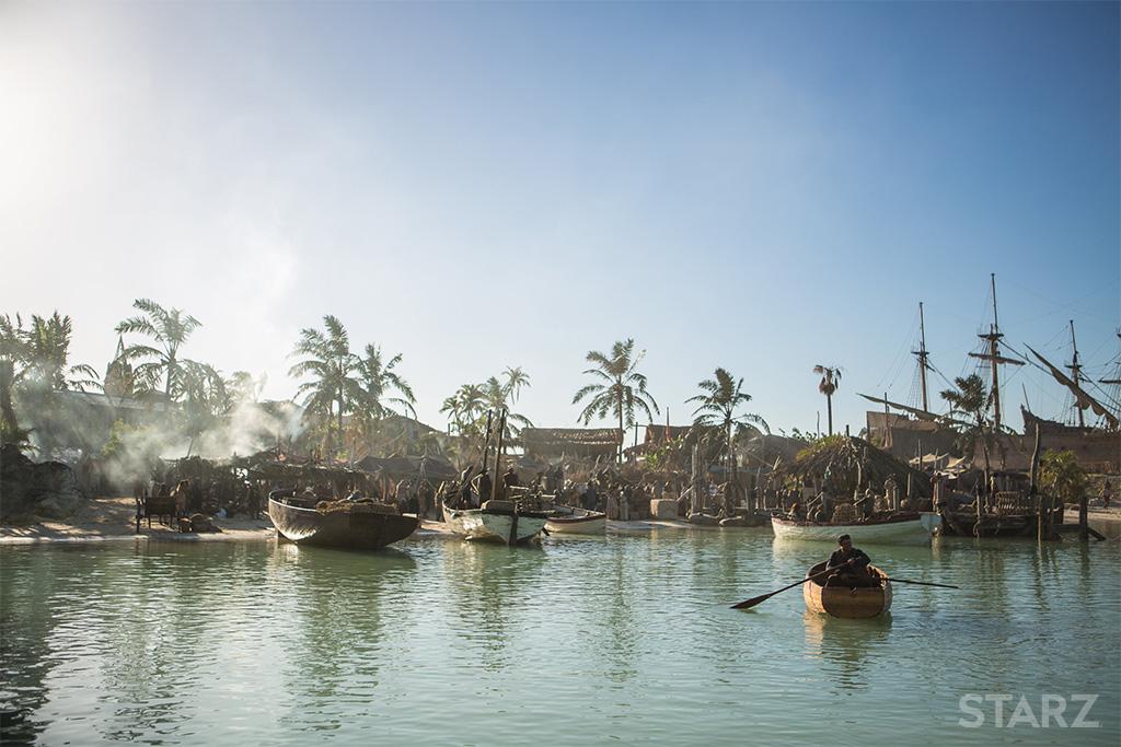 scenery of pirates in black sails on starz