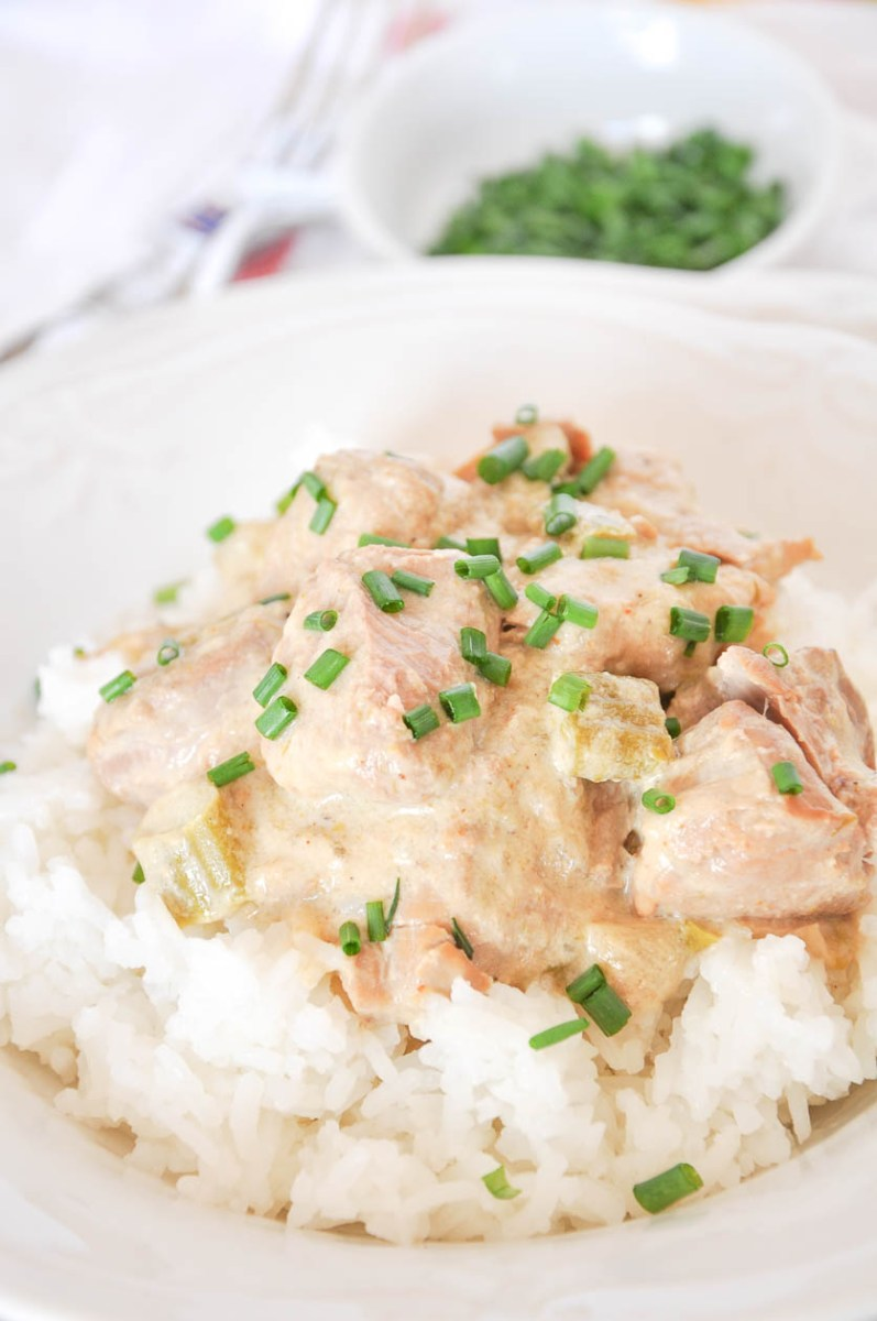 Slow Cooker Pork Tenderloin Casserole
