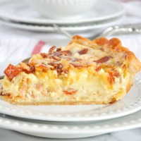 Quiche Lorraine With Bacon, Swiss And Gruyère