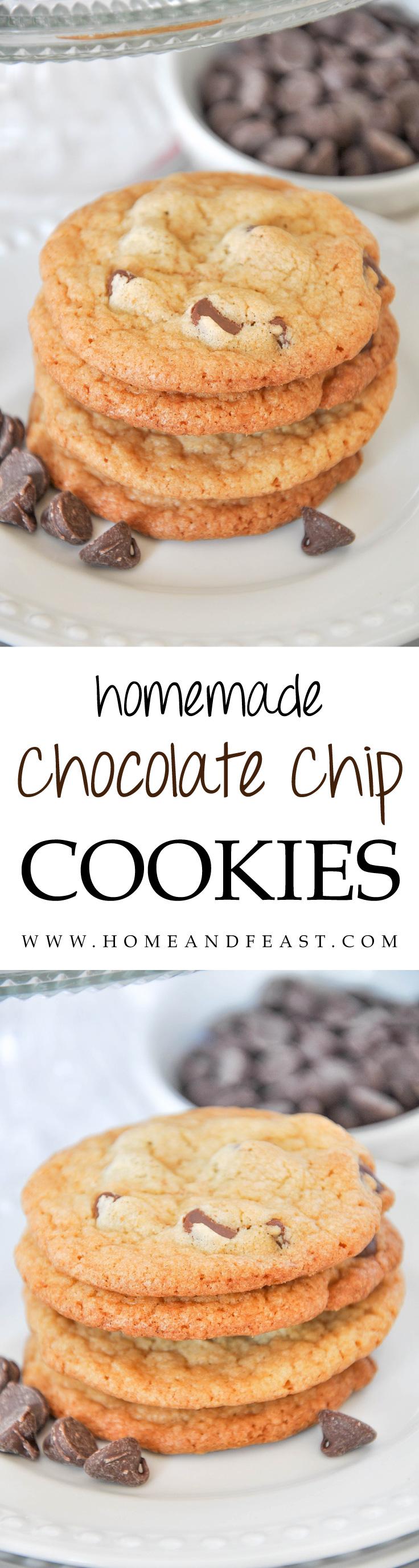 Yummy Homemade Chocolate Chip Cookies