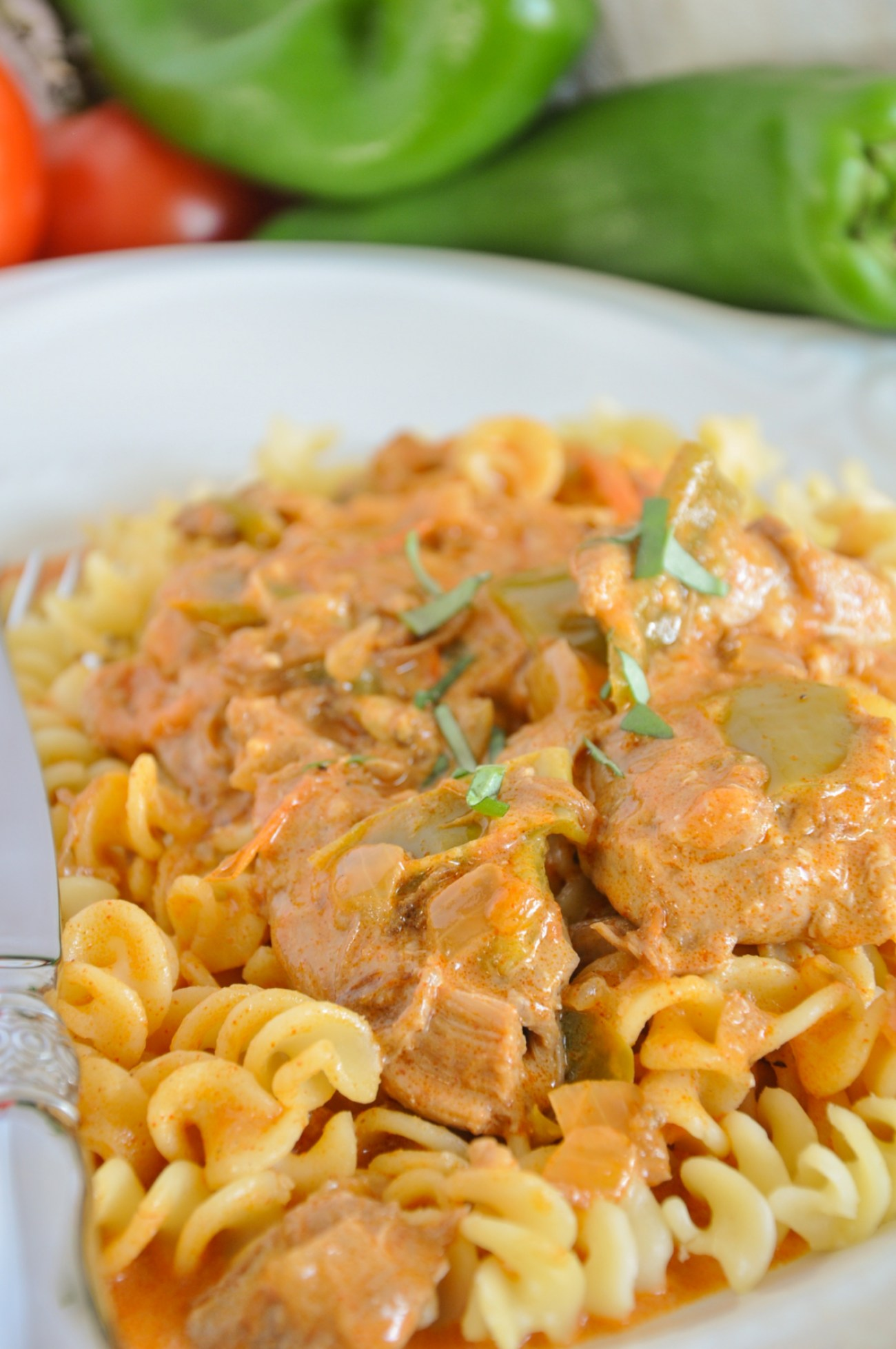 Home & Feast by Stasia Wimmer Easy Hungarian Chicken Paprikash Recipe