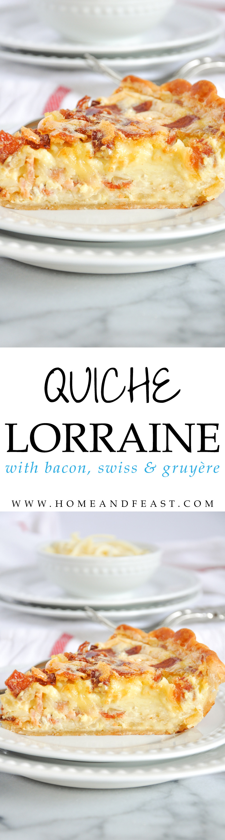 Quiche Lorraine with bacon, Swiss, and Gruyère