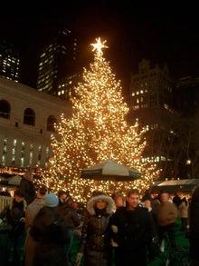 N.Y.に恋して☆-Briant Park Christmas tree
