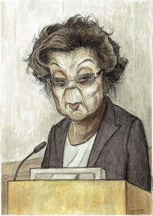 イタズラ心のある似顔絵野村佐知代さんの法廷画