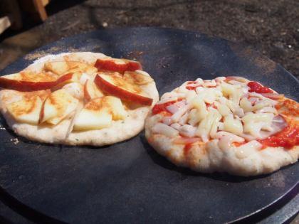 ピザ焼き上がり