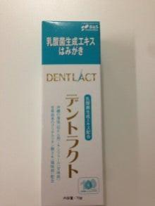 乳酸菌の歯磨き粉・・・