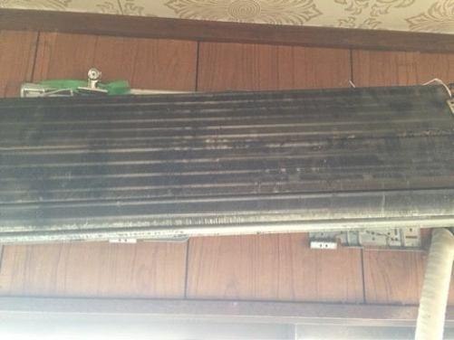 完全分解後 壁に熱交換器