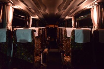 Jバス新車 日野セレガ ハイデッカー 優しく照らす間接照明