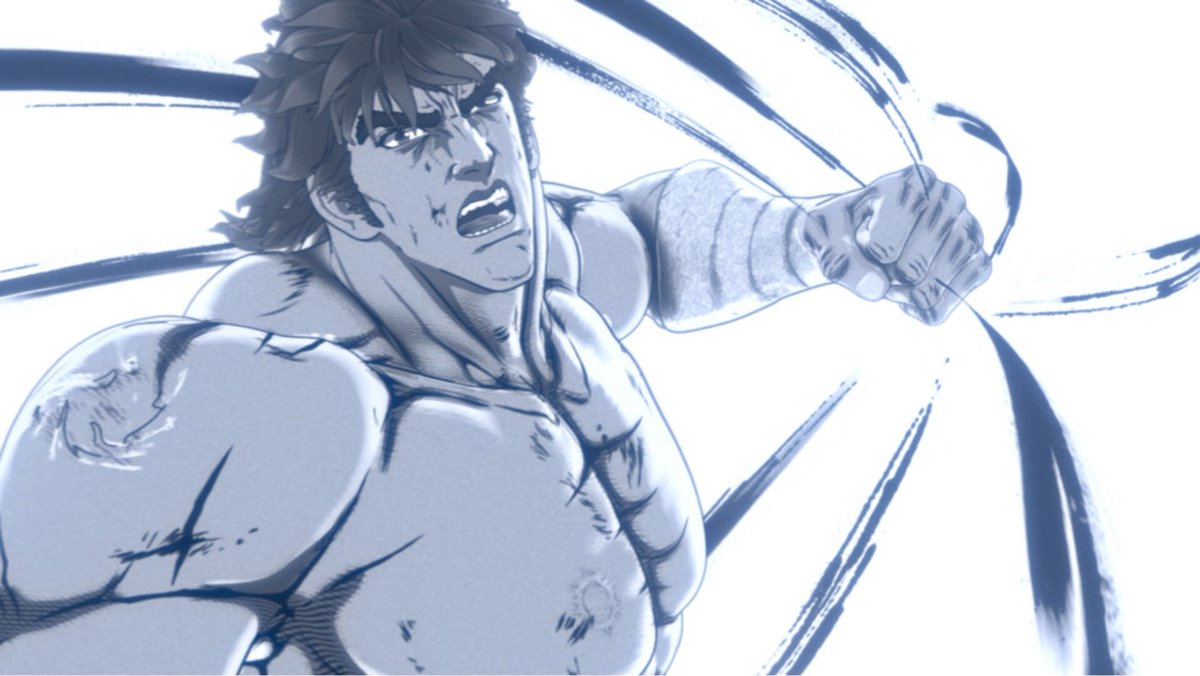 anime 蒼天の拳 REGENESIS 第2期 第12話 (24話)「霞拳志郎と云う漢 ...