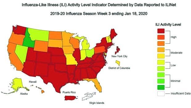 「米国で季節性インフルエンザ」の画像検索結果