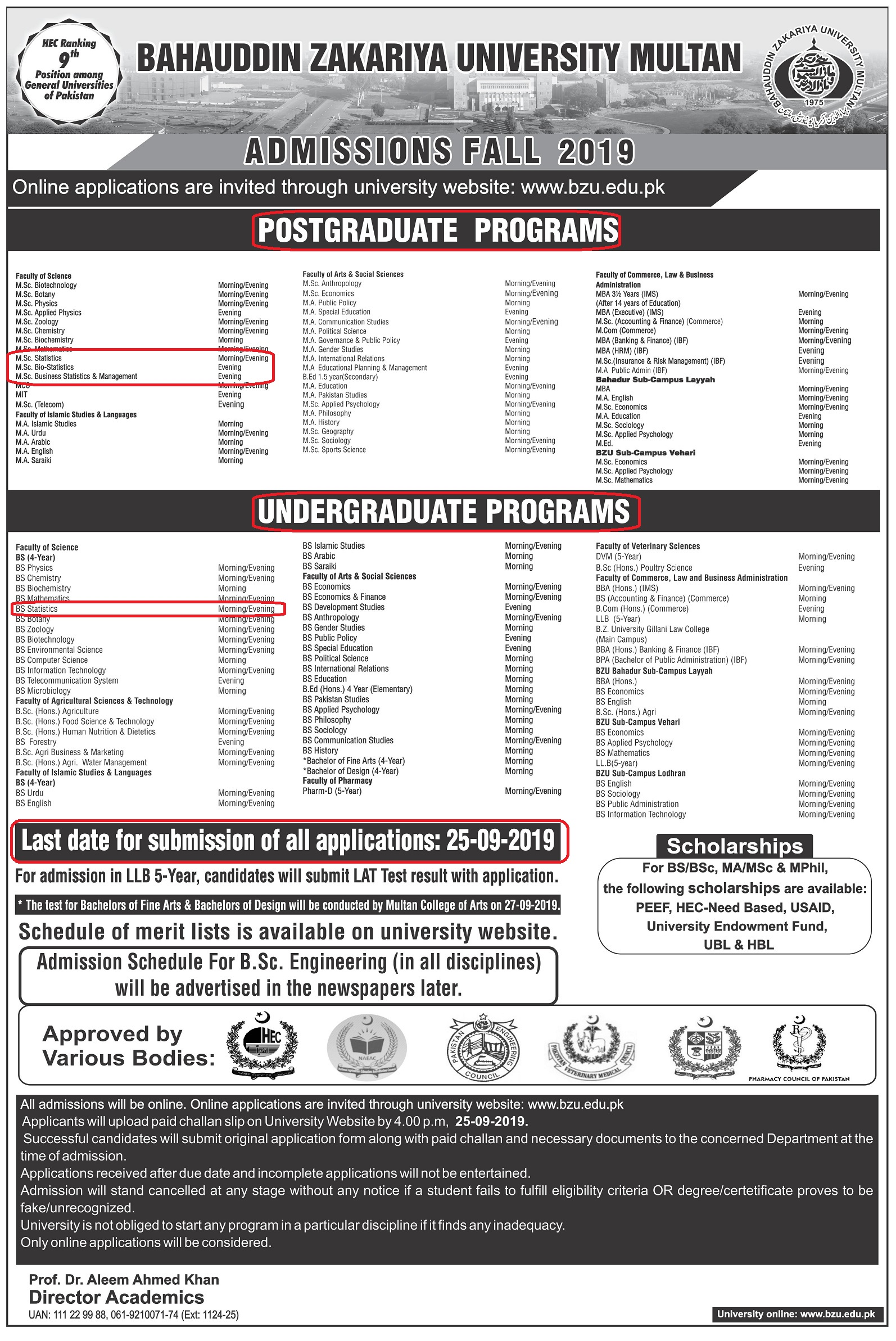 Admission-Fall-2019-Undergraduate-and-Post-Graduate