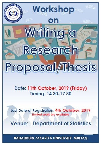 Workshop on Writing a Research Proposal/ Thesis