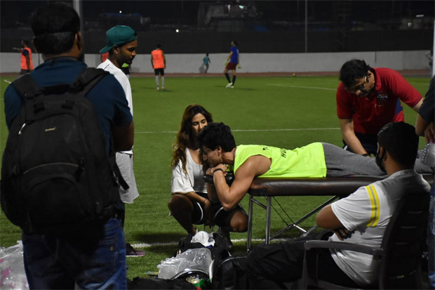Tiger Shroff gets injured during a football match, ladylove Disha Patani stays by his side