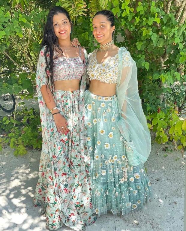 Shraddha Kapoor raises the oomph factor in blue custom-made embroidered lehenga for cousin Priyanka Sharma's haldi festivities